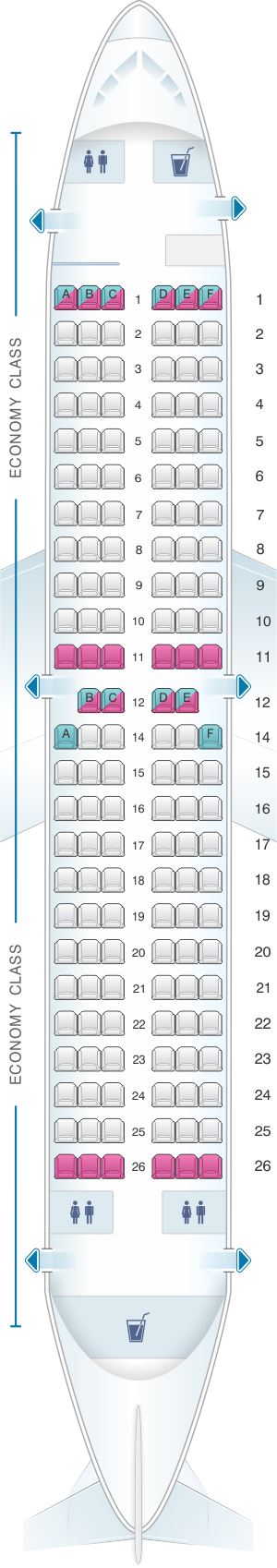 Seat map for TUIfly Boeing B737 300