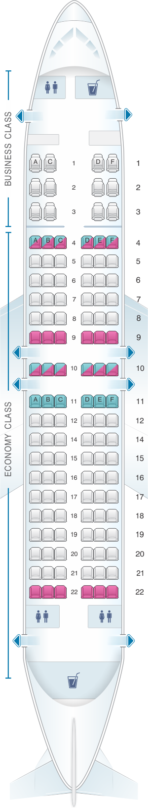 Seat map for TAAG Angola Airlines Boeing B737 700