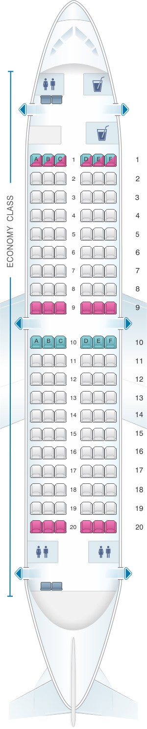 Seat map for Air North - Yukon's Airline Boeing B737 200