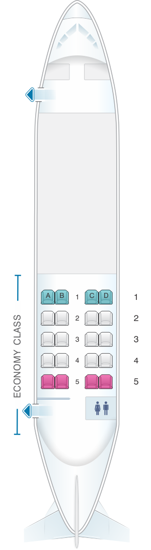 Seat map for Air North - Yukon's Airline Hawker Siddeley 748 20 pax