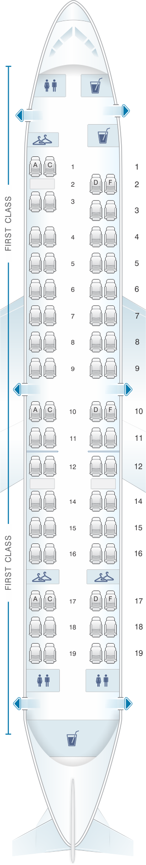 Seat map for Miami Air Boeing B737 400
