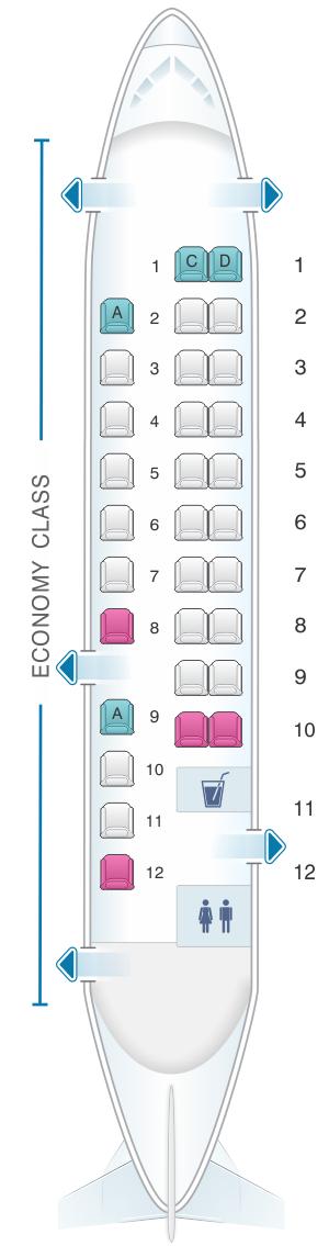 Seat map for Air Vallee Dornier-Fairchild 328 300