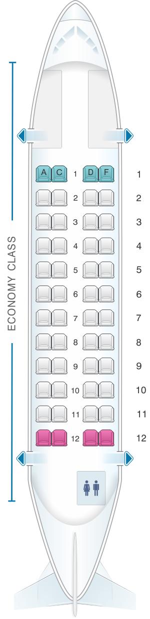 Mapa de asientos Avianca ATR-42 - Plano del avión ...