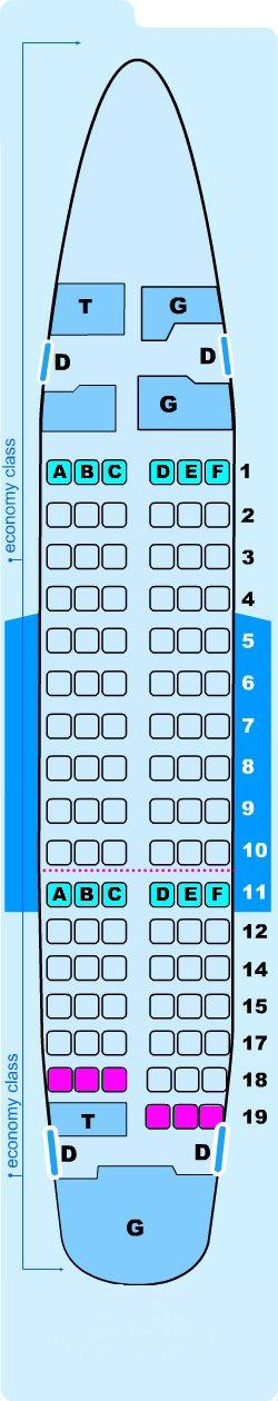 Seat map for Lauda Air Boeing B737 600