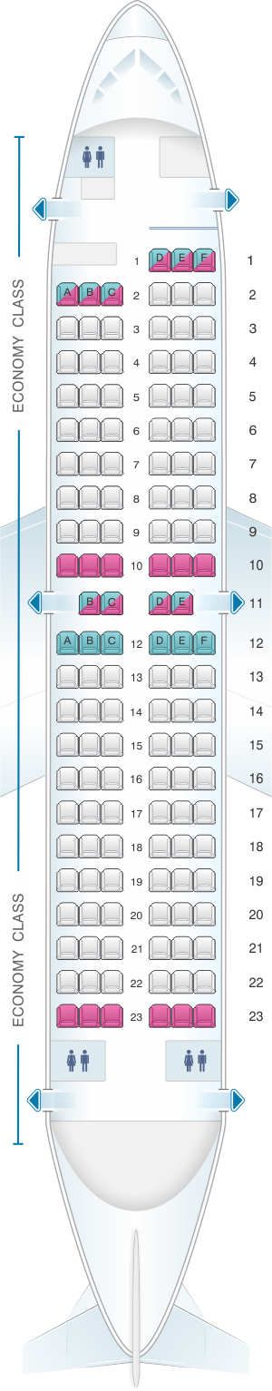 Seat map for Air New Zealand Boeing B737 300