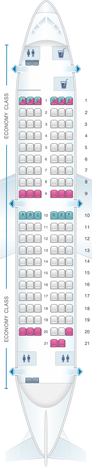 Seat map for Air North - Yukon's Airline Boeing B737 500