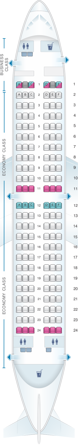 Seat map for airberlin Boeing B737 700