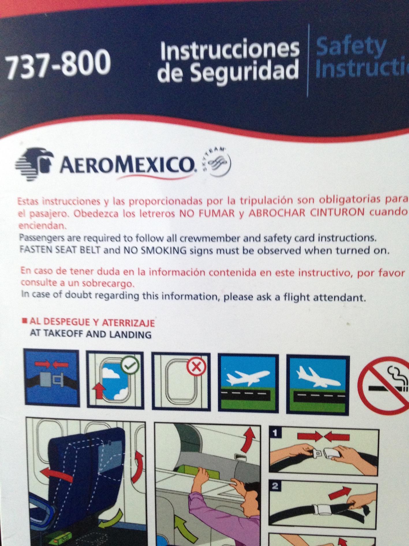 Mapa De Asientos Aeromexico Boeing B737 800 Plano Del