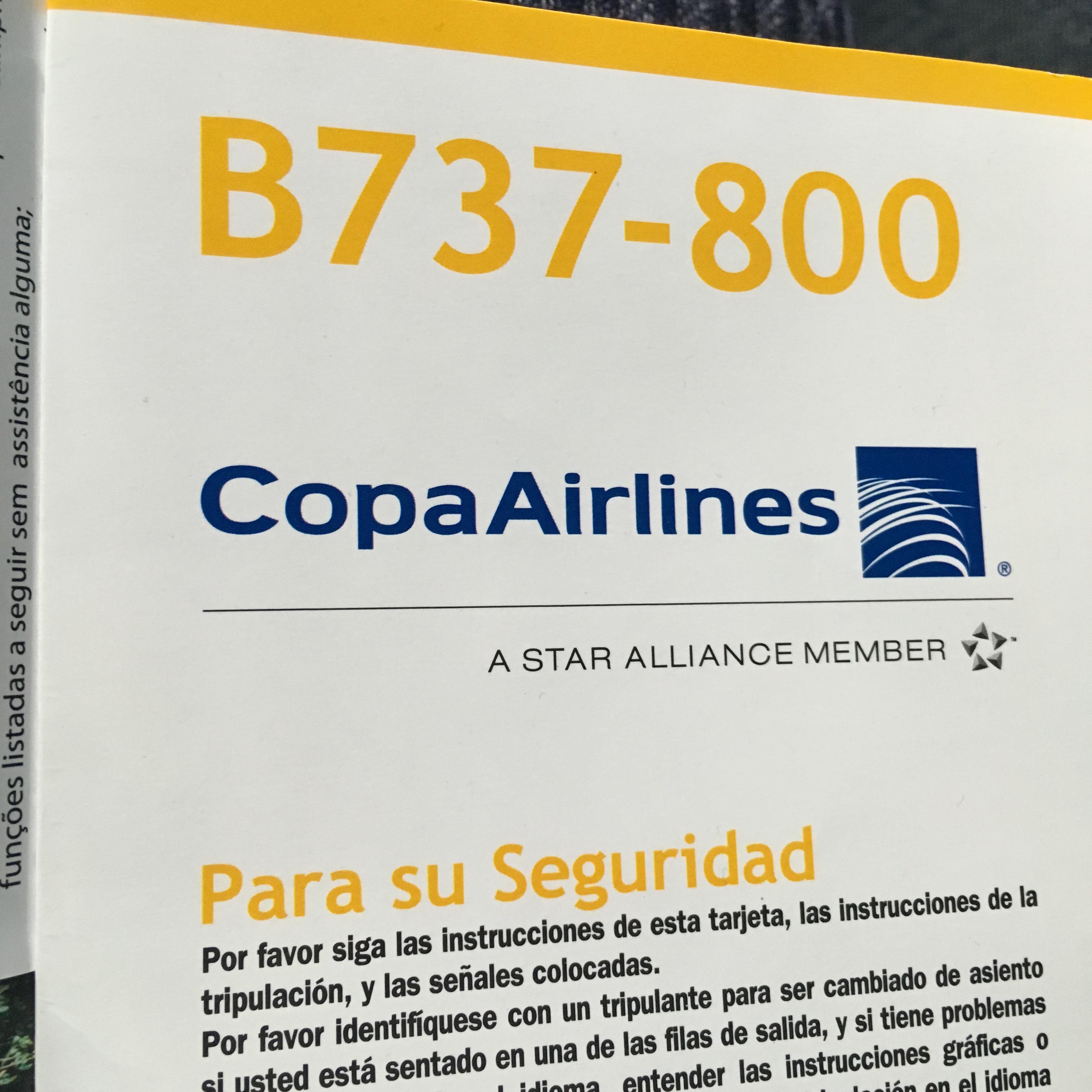 Mapa de asientos Copa Airlines Boeing B737 800A - Plano del avión ...