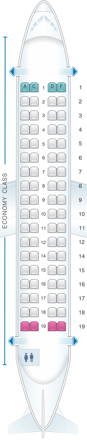 Seat map for HOP! ATR 72 600