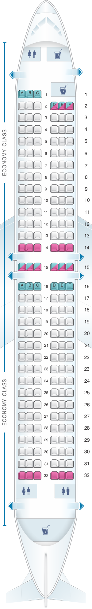 Seat map for TUI Boeing B737-800