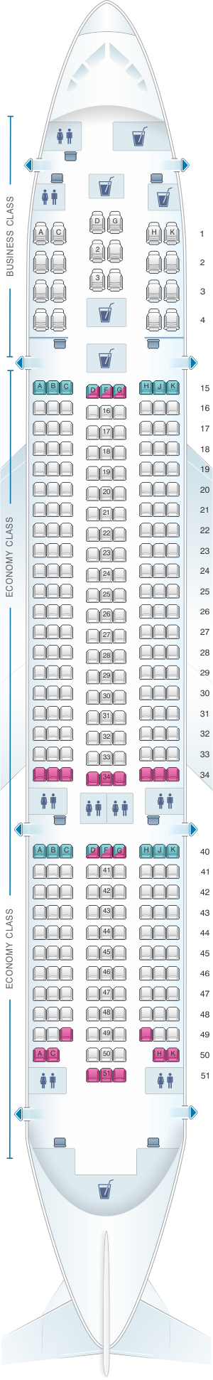 Seat map for Air Europa Boeing B787 8